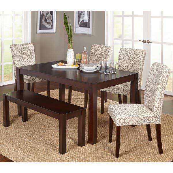 Swell Shop Simple Living Axis 6 Piece Dining Set With Dining Bench Evergreenethics Interior Chair Design Evergreenethicsorg