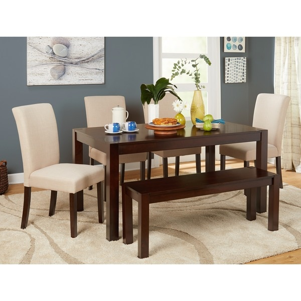 simple living axis 6piece dining set with dining bench