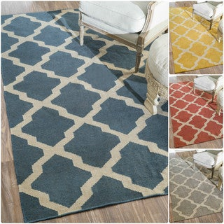 nuLOOM Flatwoven Indoor/ Outdoor Trellis Fancy Rug (8' x 10')