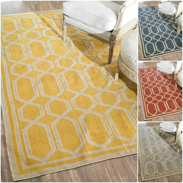 nuLOOM Flatwoven Indoor/ Outdoor Trellis Fancy Rug - 8' x 10'