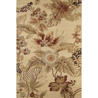 Bowery Beige Floral Rug (5' x 8')