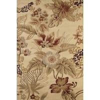 Isle Cream Floral Area Rug - 5' x 8'