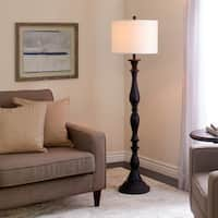 Abbyson Melrose Espresso Resin Floor Lamp