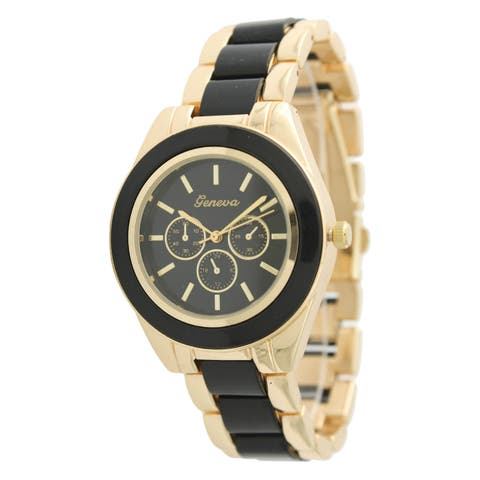 Olivia Pratt Women's 106241 Two-tone Stainless Steel Watch