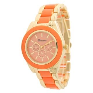 Olivia Pratt Women's 106241 Two-tone Stainless Steel Watch (Option: Orange)