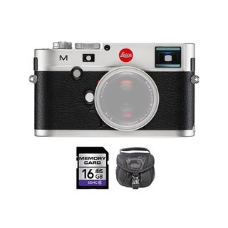 Leica M Digital Rangefinder Silver Camera 16GB Bundle