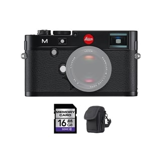 Leica M Digital Rangefinder Black Camera 16GB Bundle