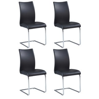 Somette Jayne Contour Back Cantilever Side Chair (Set of 4)