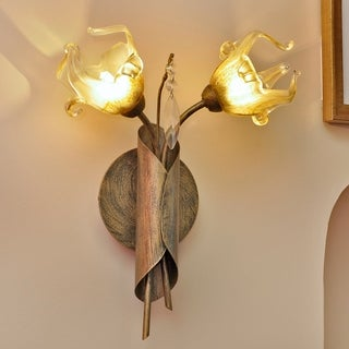 Bloom Bronze Metal 2-light Wall Sconce