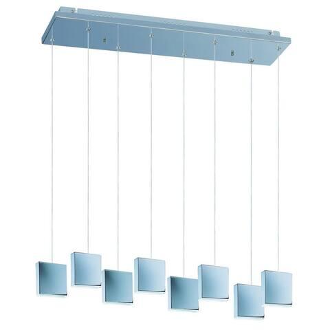 Brick Chrome Metal 8-light Multi-light Pendant