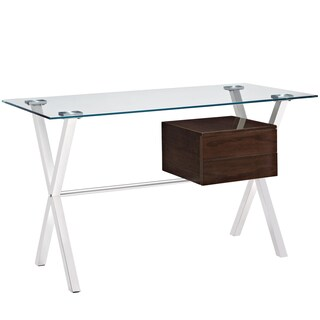 Stasis Office Desk (Option: Walnut)