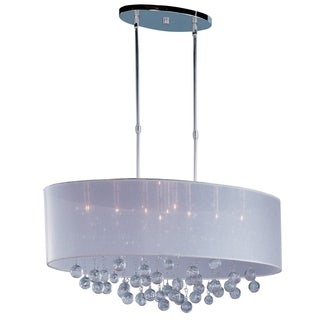 Veil Chrome Metal 9-light Single Pendant - Silver