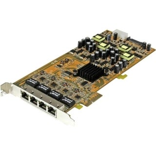 StarTech.com 4 Port Gigabit Power over Ethernet PCIe Network Card - P