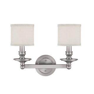 Capital Lighting Midtown Collection 2-light Matte Nickel Bath/Vanity Light