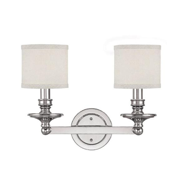 Bathroom Vanity Lights Polished Nickel capital lighting midtown collection 2-light polished nickel bath