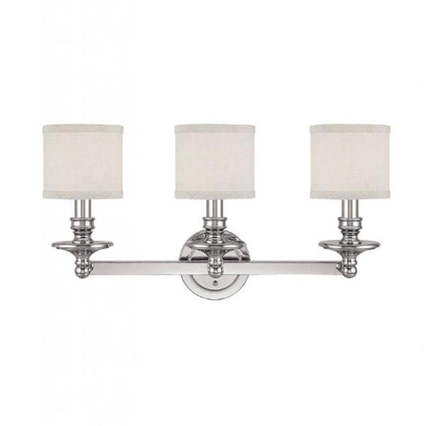 Bathroom Vanity Lights Polished Nickel capital lighting midtown collection 3-light polished nickel bath