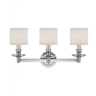 Capital Lighting Midtown Collection 3-light Polished Nickel Bath/Vanity Light