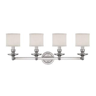 Capital Lighting Midtown Collection 4-light Polished Nickel Bath/Vanity Light