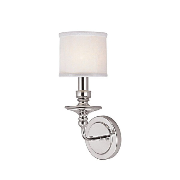 Capital Lighting Midtown Collection 1 Light Polished Nickel Wall Sconce