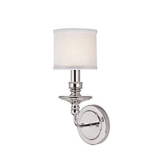 Capital Lighting Midtown Collection 1-light Polished Nickel Wall Sconce Light