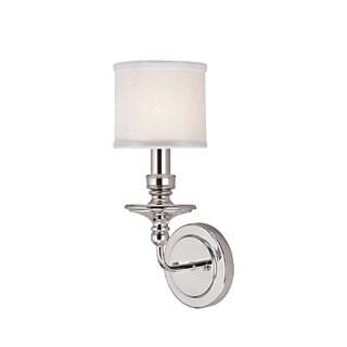 Capital Lighting Midtown Collection 1-light Polished Nickel Wall Sconce Light