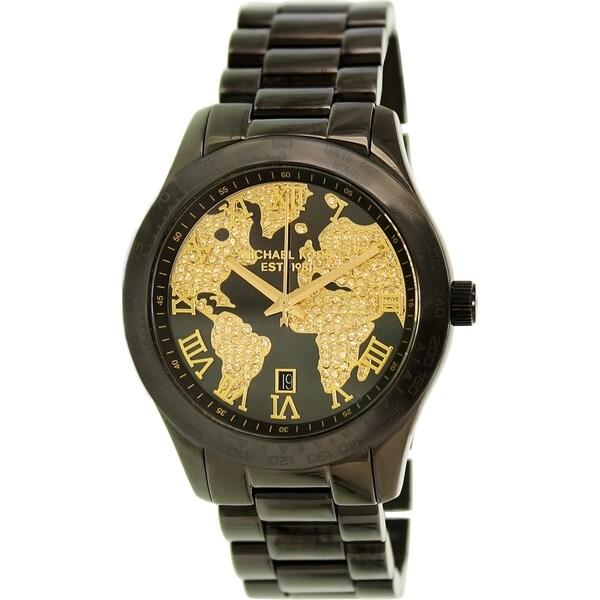 Michael kors mens mk6091 layton chronograph globe crystal dial michael kors menx27s mk6091 x27laytonx27 gumiabroncs Choice Image