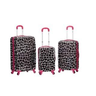 Rockland Pink Giraffe 3-piece Lightweight Hardside Spinner Luggage Set https://ak1.ostkcdn.com/images/products/9754570/Rockland-Pink-Giraffe-3-piece-Lightweight-Hardside-Spinner-Luggage-Set-P16926747.jpg?impolicy=medium