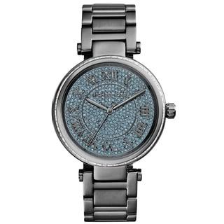 Michael Kors Women's MK6087 'Skyler' Blue Crystal Dial Grey Stainless Steel Watch