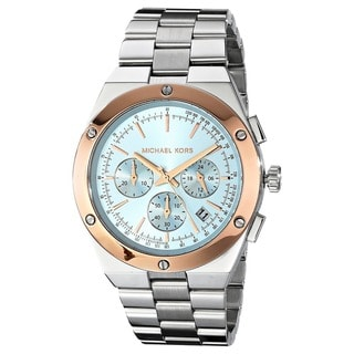 Michael Kors Men's MK6079 'Reagan' Chronograph Light Blue Dial Stainless Steel Watch