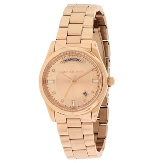 Michael Kors Women's MK6071 'Colette' Rose Goldtone Stainless Steel Watch