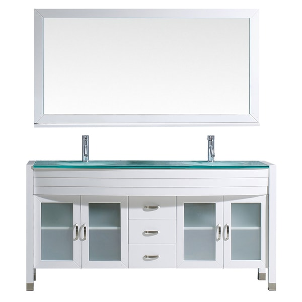Virtu Usa Ava 63 Inch White Double Sink Vanity Cabinet Set 16926875