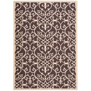 Nourison Home and Garden Brown Rug (5'3 x 7'5)