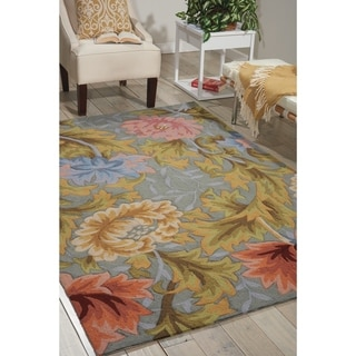 Link to Nourison Fantasy FA22 Floral Area Rug Similar Items in Rugs