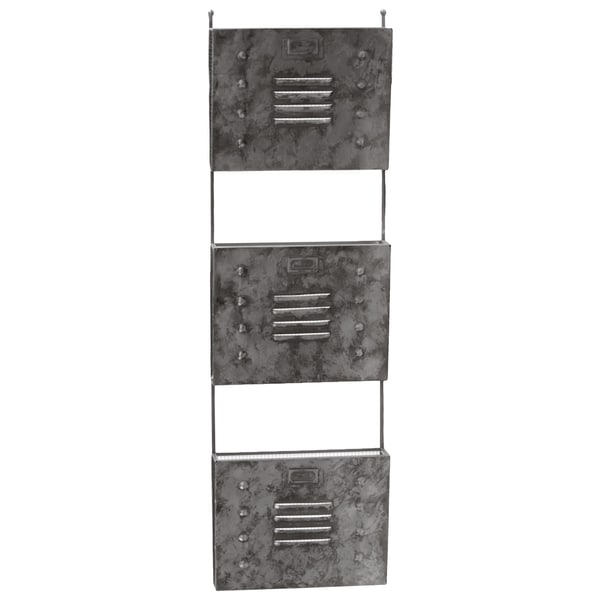 Metal Wall Mail Organizer galvanized zinc metal wall mail organizer with mesh backing and 3