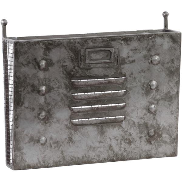 Metal Wall Mail Organizer galvanized zinc metal wall mail organizer with mesh backing and