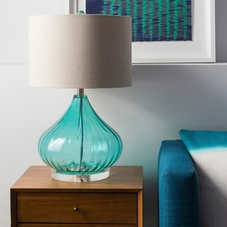 Solid Transparent Blue Piper Table Lamp