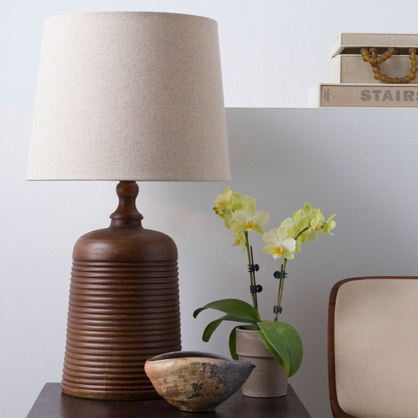 Stylish Solid Brown Keen Table Lamp