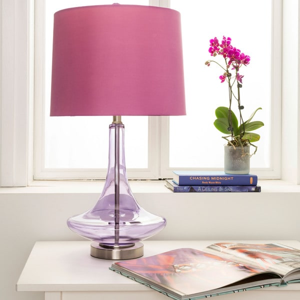 Modern Solid Purple Bray Table Lamp