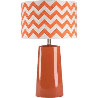 Modern Orange Chevron Ceramic Harper Lamp