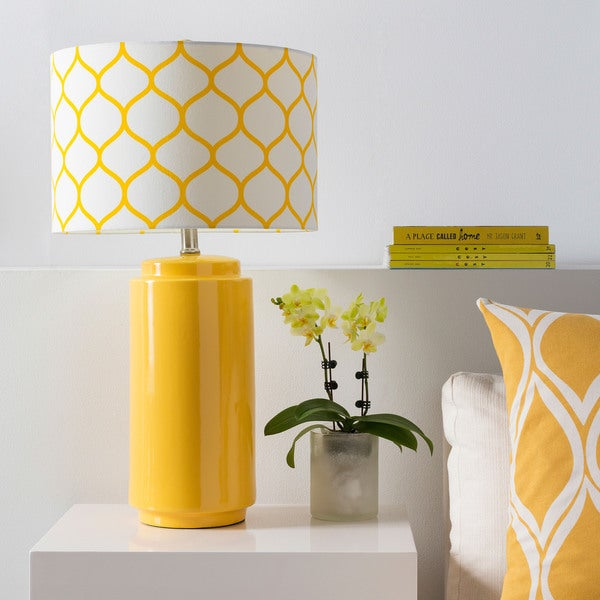 Modern Moroccan Yellow Ceramic Flynn Lamp
