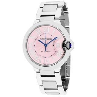 Cartier Women's W6920041 Baloon Bleu Round Silver-Tone Bracelet Watch