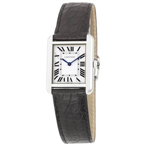 Cartier Women's W5200005 Tank Solo Rectangle Black Strap Watch