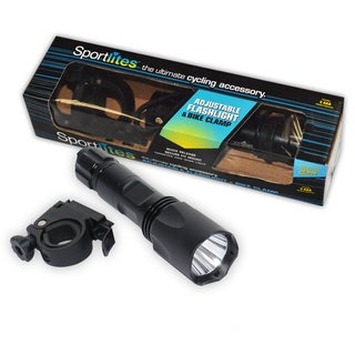 Sportlites Adjustable Bike Flashlight with Clamp