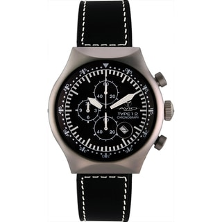 Avio Milano Men's 45 MM Aluminum Chronograph Watch