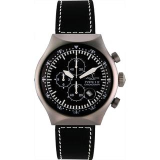 Avio Milano Men's Quartz Chronograph Black Rubber Strap Watch