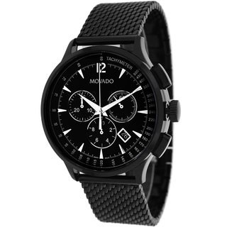 Movado Men's Circa Round Black Bracelet Watch