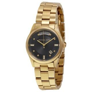 Michael Kors Women's MK6070 'Colette' Black Dial Stainless Steel Watch