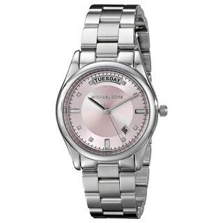 Michael Kors Women's MK6068 'Colette' Pink Dial Stainless Steel Watch