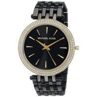 Michael Kors Women's MK3322 'Darci' Crystal-set Black Ion-plated Stainless Steel Watch