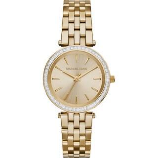 Michael Kors Women's MK3365 'Darci' Crystal-set Goldtone Stainless Steel Watch